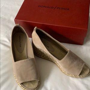 Donald Pliner suede shoes.